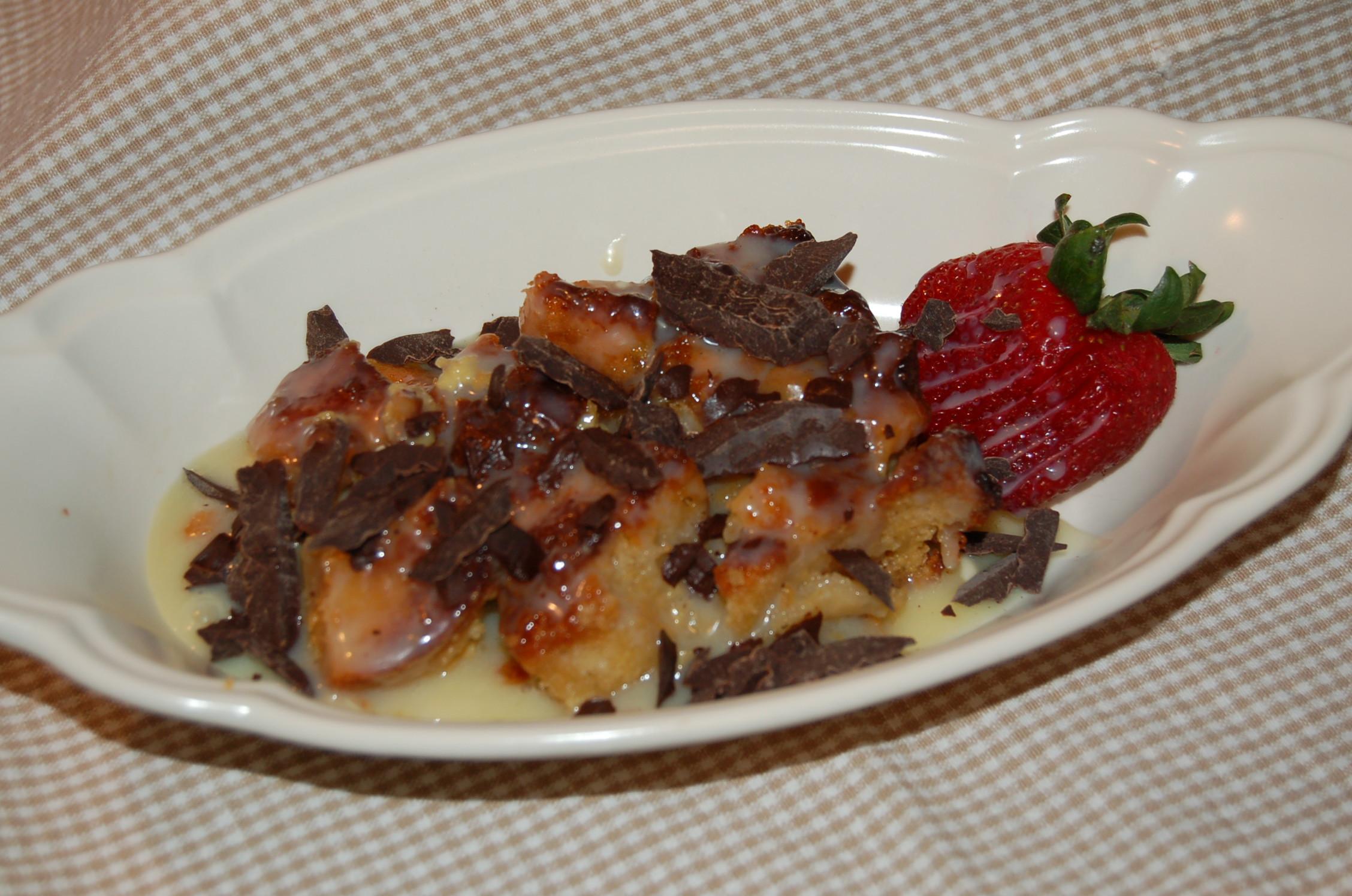 The Columbia Restaurant: Recipe #2 – White Chocolate Bread Pudding |